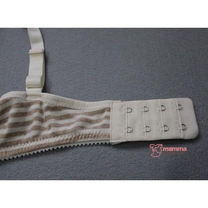 T Nursing Bra - JP Stripe Almond Padded