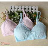 T Nursing Bra - JP Soft 2 button (Pink or Blue)