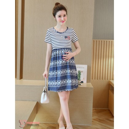 Nursing Dress - US Star Blue