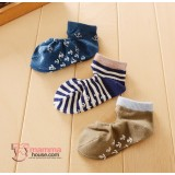 Baby Socks - Korean 2 hole (3 pairs set) - Boy Achor