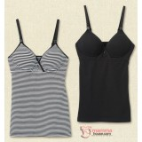 Nursing Singlet - Japan Padded Singlet (Black or Stripe Black)