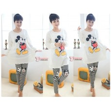 Mamma Pajamas - Long Mickey White