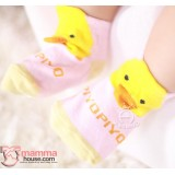 Baby Socks - Korean Piyo Pink