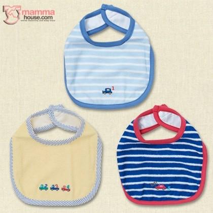 Baby Bib - JP 3pcs Set Stripe Cars