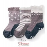 Baby Socks - JP 3pcs set socks girl (black grey)