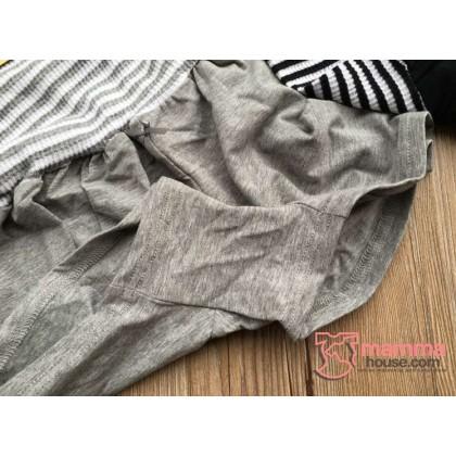 Maternity Shorts - JP Cotton High Waist (Black or Grey)