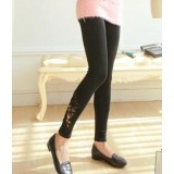Maternity Legging - Long Opening Lace (Black, Dark Grey or Light Grey)