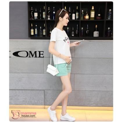 Maternity Shorts - Cool Green