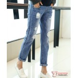 Maternity Jeans - Straight Light Blue