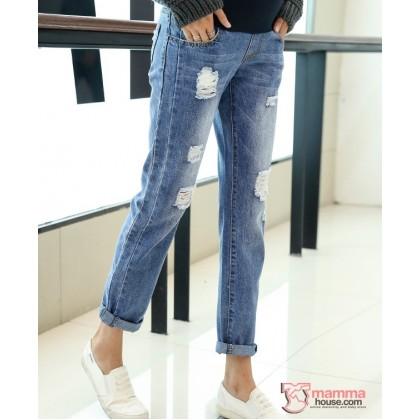 Maternity Jeans - Straight Light Blue