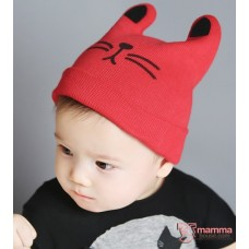 Baby Hat - Cat Ear Red or Pink