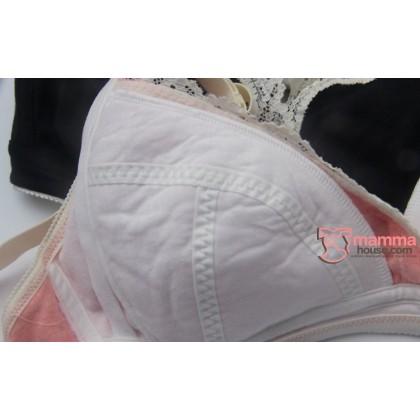 T Nursing Bra - JP PO Lace Light Grey