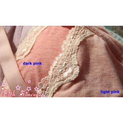 T Nursing Bra - JP PO Lace Light Pink