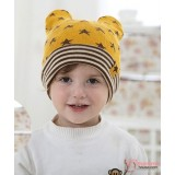 Baby Hat - Knitted Star Yellow