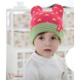 Baby Hat - Knitted Star Pink