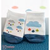 Baby Socks - Korean Mixed Rain Blue