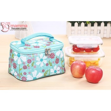 Cooler Bag - Flora Blue