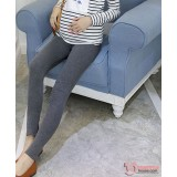 Maternity Legging - Long Slim Legging Dark Grey