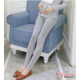 Maternity Legging - Long Slim Legging Light Grey