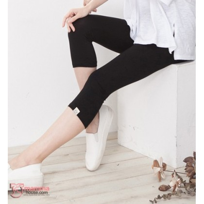 Maternity Capri Legging - Cat Black 7