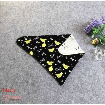 Baby Bib - Korean Cotton 2 way Bird (2 colors)