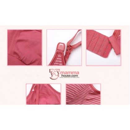 T Nursing Bra - Quality Stripe Pink