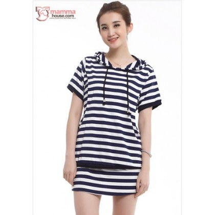Nursing Set - Stripe Dark Blue (1 set)