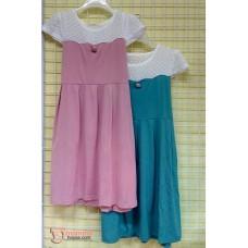 Maternity Dress - Shoulder Lace Dress (Green Blue or Pink)