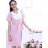 Nursing Dress - Working Stripe (Pink or Grey)