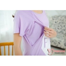 Mamma Pajamas - Love Purple (short sleeves set)