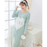 Mamma Pajamas - Long Love Green Blue