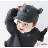 Baby Hat - Korean Mice Grey Dark