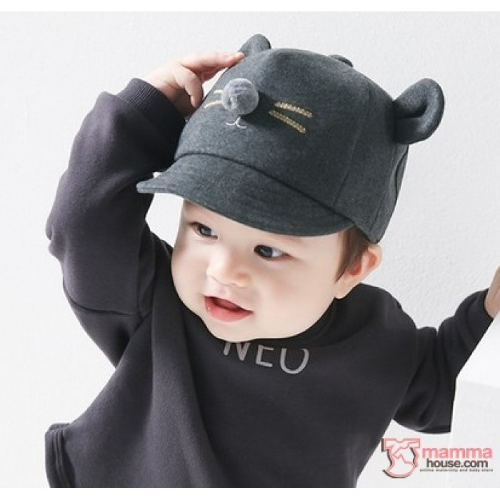 e3d7ea3fee6 Baby Hat - Korean Mice Grey Dark
