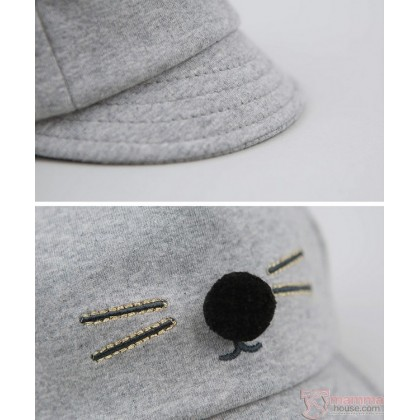 Baby Hat - Korean Mice Grey Light