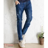 Maternity Jeans - Pocket Line Dark Blue