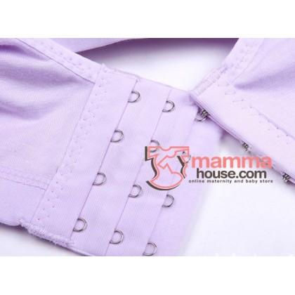 X Nursing Bra - 2 buttons Cozy Pink