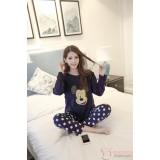 Mamma Pajamas - Mickey Polka Blue
