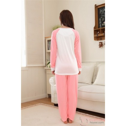 Mamma Pajamas - Long Fancy Pink (Set)