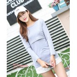 Nursing Tops - Long Pure Grey