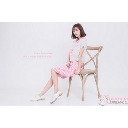 Nursing Dress - New Star Stripe Pink