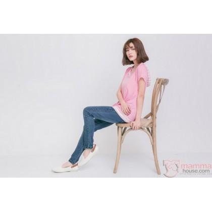 Nursing Set - U Stripe Pink (plus baby romper)