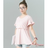 Nursing Tops - Lotus Sleeves Pink or Dark Purple
