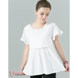 Nursing Tops - Lotus Sleeves White or Blue