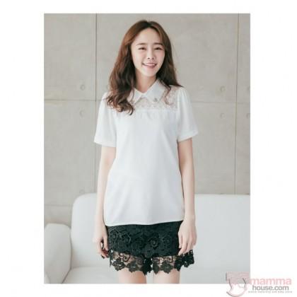 Maternity Shorts - Dress-Link Lace Black