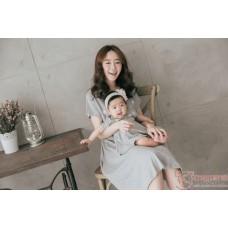 Nursing Set - Star Grey (plus baby romper)