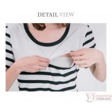 Nursing Dress - Line Red Bottom (plus baby romper)