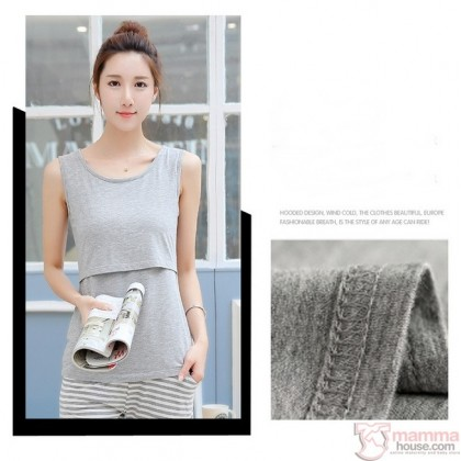 Nursing Singlet - Simple Singlet Grey