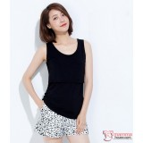 Nursing Singlet - Simple Singlet Black