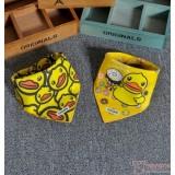 Baby Bib - 2pcs set - Yellow Duck