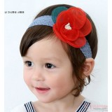 Baby Headband - Kaca Flower Red
